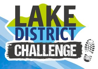 Logo for Lake District challenge including boot print