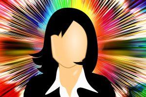 Cartoon of executive lady